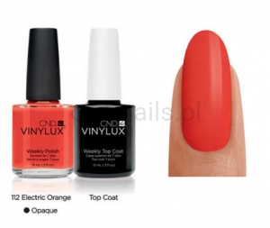 CND - VINYLUX - Electric Orange (O) *PARADISE COLLECTION 2014* #112